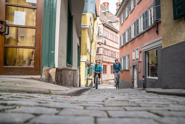 Tübingen Fachwerk Gassen Kopfsteinpflaster