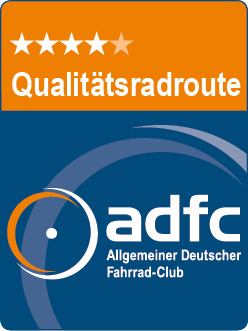 ADFC Qualitätsradroute 4 Sterne Logo