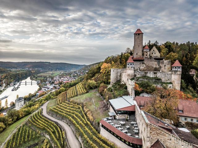Burg Hornberg Drohne