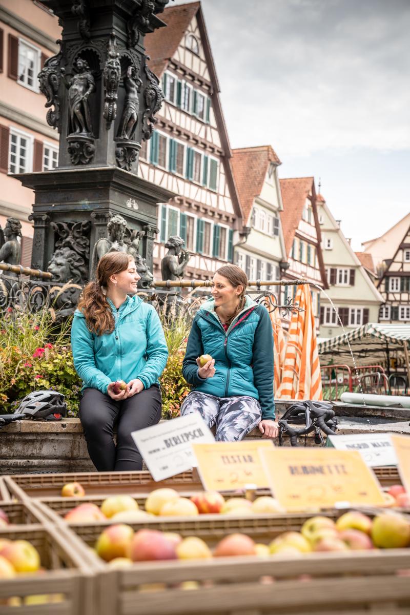 Tübingen Fachwerk Marktplatz